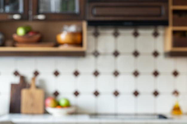 Blurred background,modern kitchen.