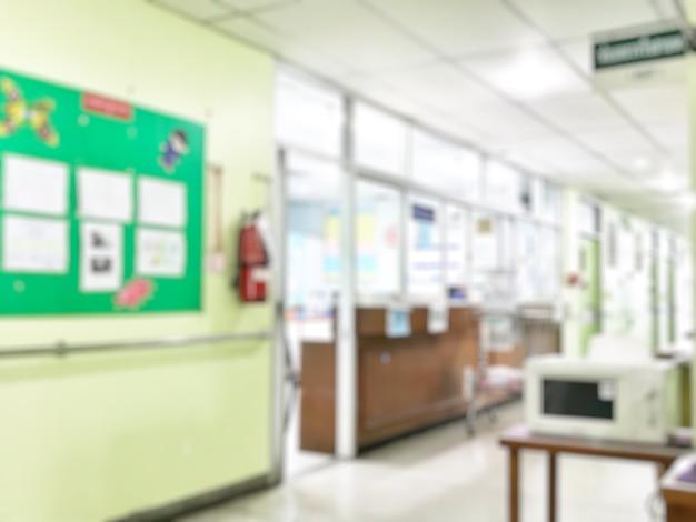 Размытый фон операционной в больнице.