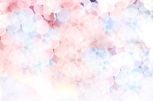 Blurred background, pink and blue circle bokeh abstract light background,