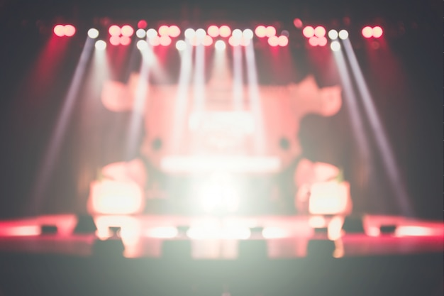 Blurred background of the silhouette concert in front of stage