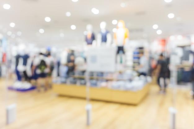 배경을 흐리게-쇼핑몰의 bokeh와 배경 흐림. 빈티지 필터링 된 이미지.