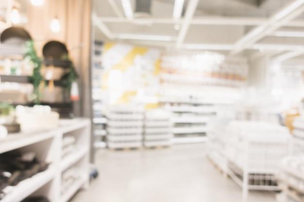 ぼやけた背景 - ショッピングモールの店はボケと背景をぼかします。ヴィンテージフィルター画像。