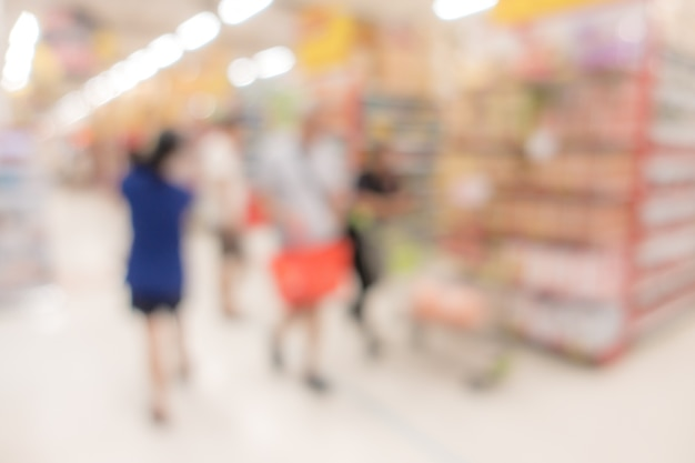 Blurred background : supermarket