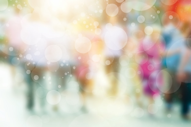 Blurred background with bokeh effect