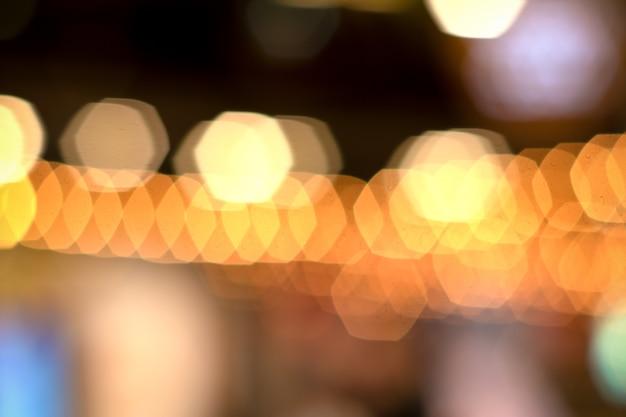 フレアライトとライトボケ泡、自然な色のぼかし背景 Premium写真