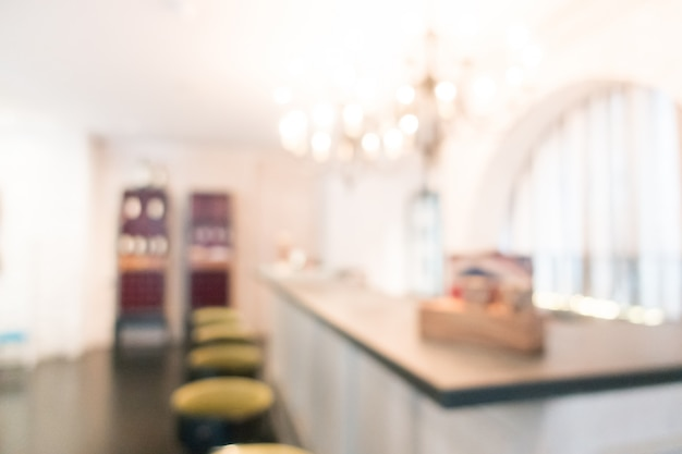 Blurred bar with stools