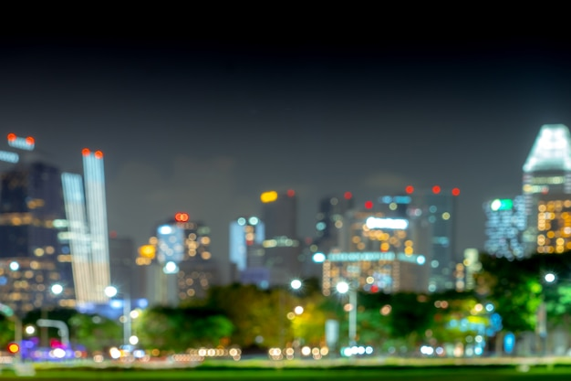 Blurred bokeh background of cityscape