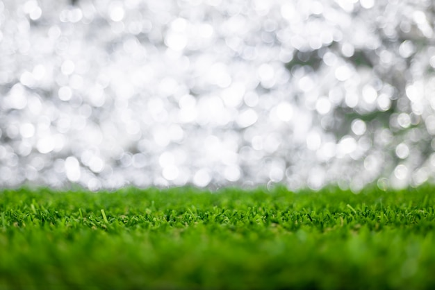 Размытый фон боке с травой пол
