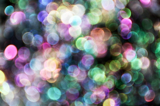 Blurred bubbles, glass ball on abstract with colorful black isolated