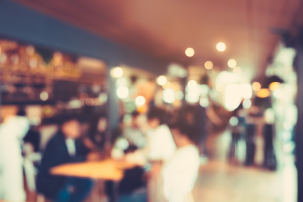 Blurred cafe background, coffee shop blur background with bokeh