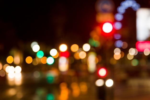 흐릿한 도시의 불빛