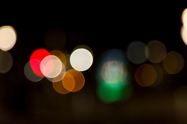 Blurred city lights