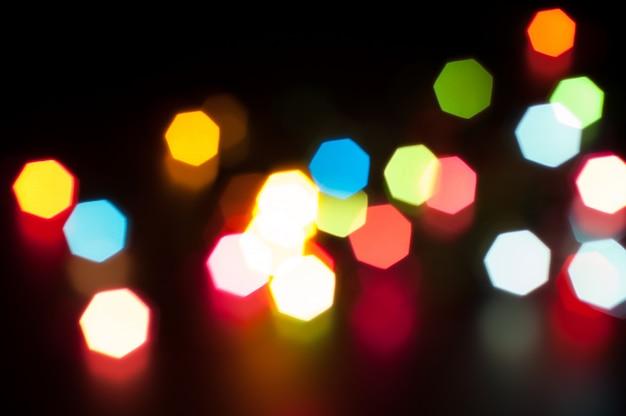 Blurred color bokeh on dark