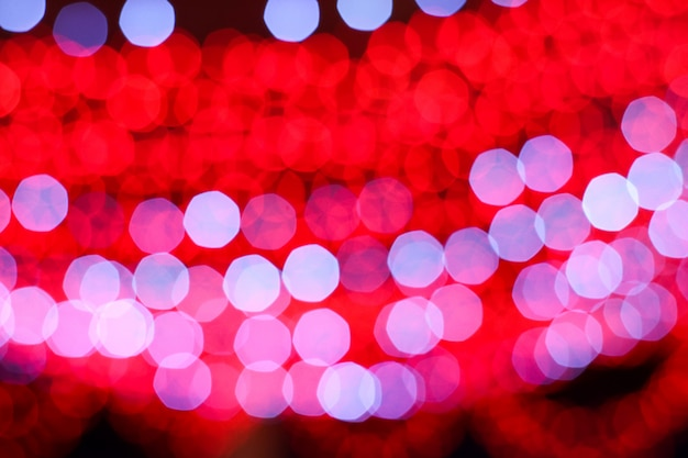 Blurred colorful red and white light image of electric line
