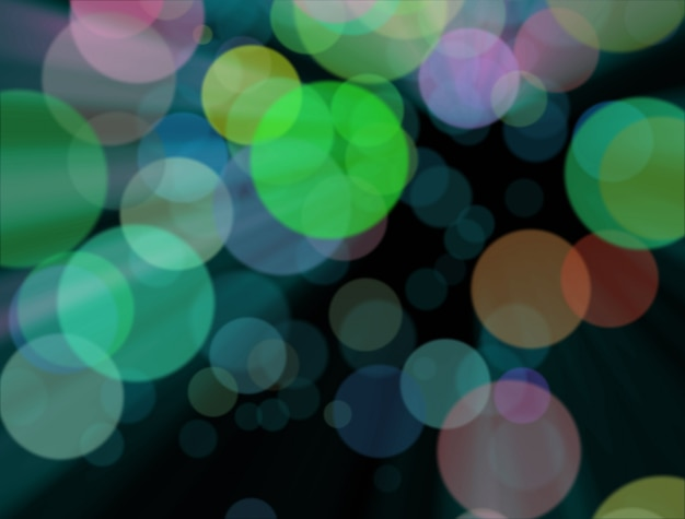 Blurred colourful lights at the