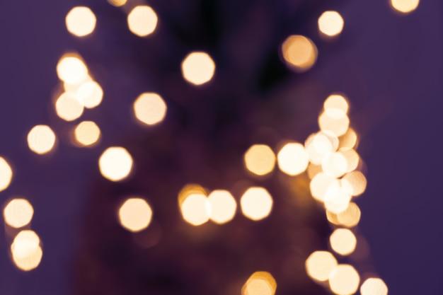 Blurred defocused fairy light glitter background