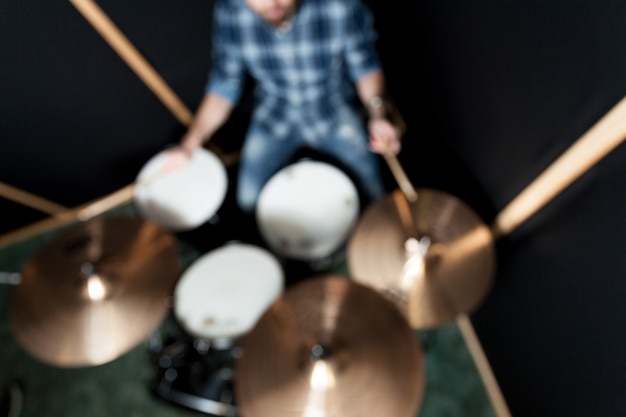 Blurred drummer