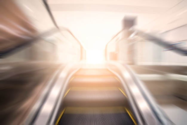 Blurred escalator