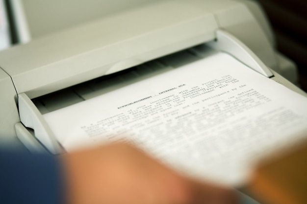 Blurred fax machine
