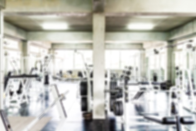 Blurred of fitness gym for background