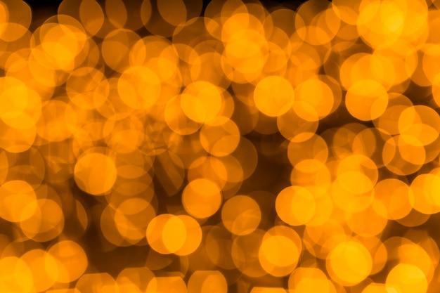 Blurred golden bokeh background