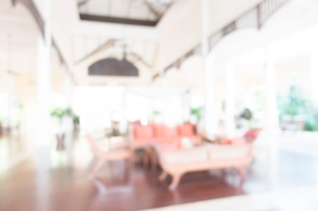 Blurred hotel reception