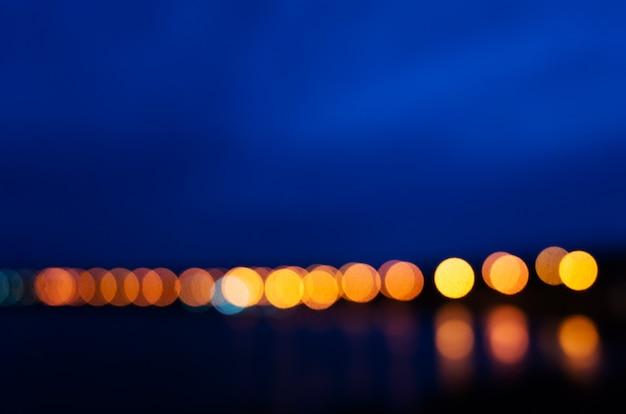 Blurred image - city bright lights