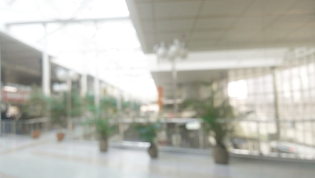 Blurred image, spacious hallway in an office building.photo with copy space