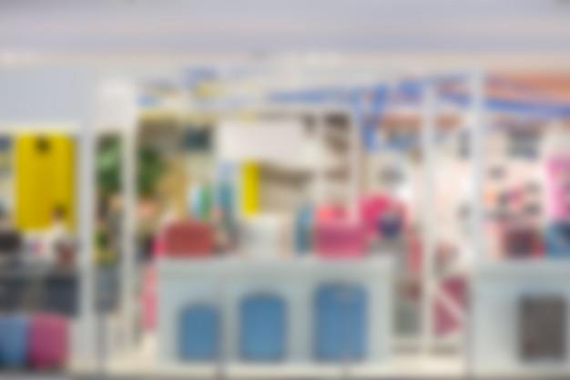 コロナウイルスの混雑が緩和された後のデパートの画像のぼやけ