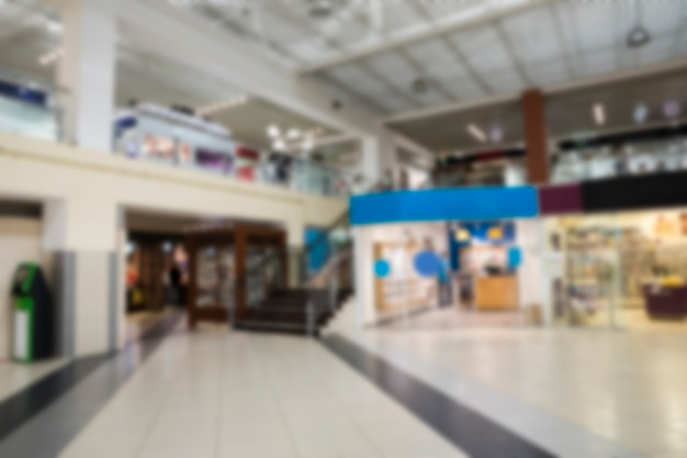 Blurred indoor shopping center