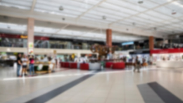 Blurred indoor shopping mall