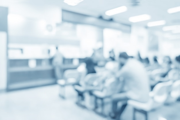 Blurred interior of dispense in hospital - abstract medical background.