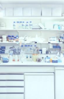 Blurred interior of modern laboratory