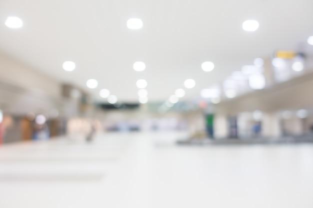 Blurred large corridor