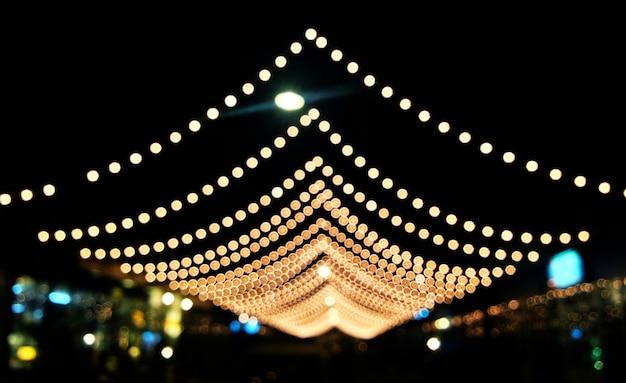 Blurred light bulbs