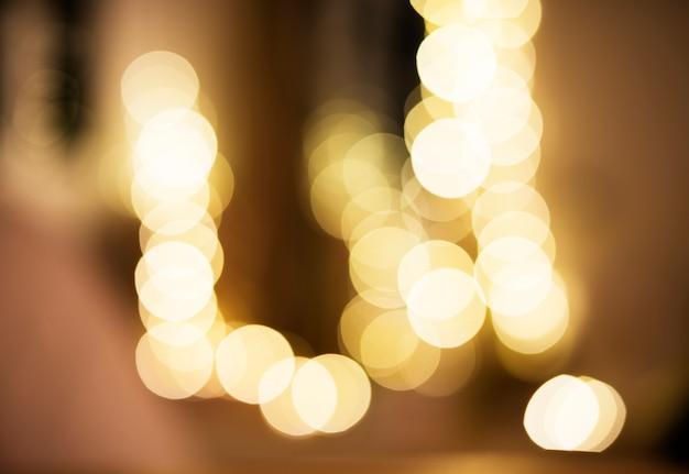 Blurred light at night