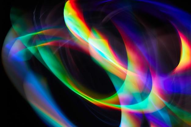 スペクトル勾配のあるカメラの光のまぶしさで1つの露出をペイントするぼやけた光