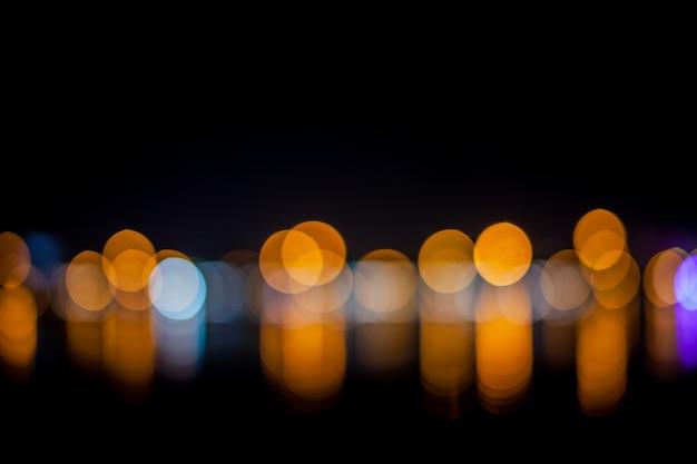 Blurred lights background bokeh.