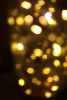Blurred lights and bokeh, background for christmas and happy new year