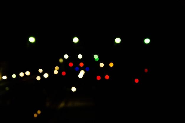 Размытые огни железнодорожного вокзала. боке фон
