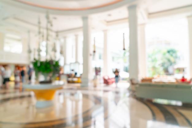 ぼやけた高級ホテルのロビーとラウンジ