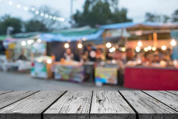 Blurred market background