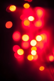 Blurred red lights