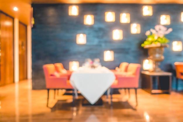 Помутнение ресторан с большим количеством источников света