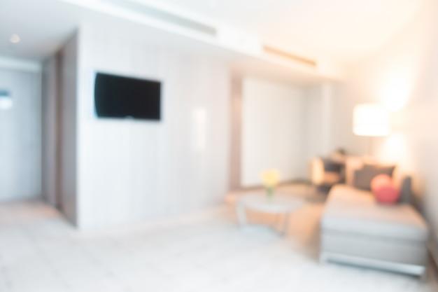 Помутнение комната с телевизором и диваном