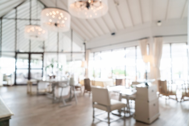 Blurred scene at hotel restaurant