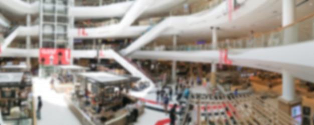 Centro commerciale offuscata