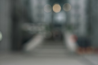Blurred shot of city central