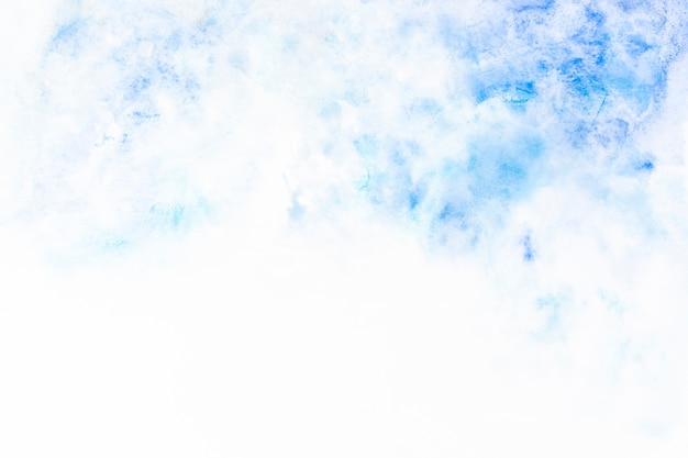 青い塗料のぼやけた飛沫