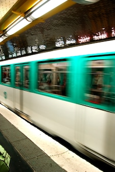 Blurred subway